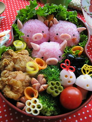 three pigs bento box | by luckysundae