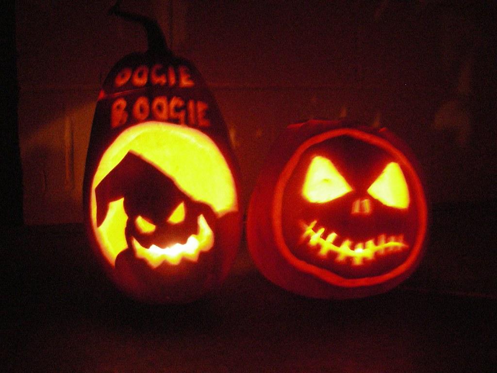 Nightmare Before Christmas pumpkins | Iona. | Flickr