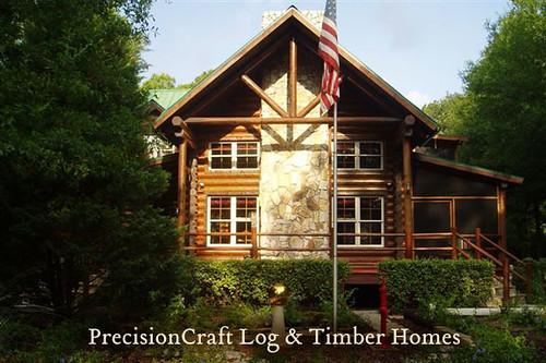 Florida Log Home Custom Design Exterior View Precisi