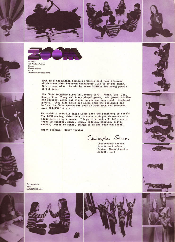 Zoom Catalog - Introduction Letter - Random House - 1972 ...