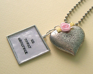 Another vintage heart necklace with writing | by the princess next door
