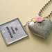 Another vintage heart necklace with writing