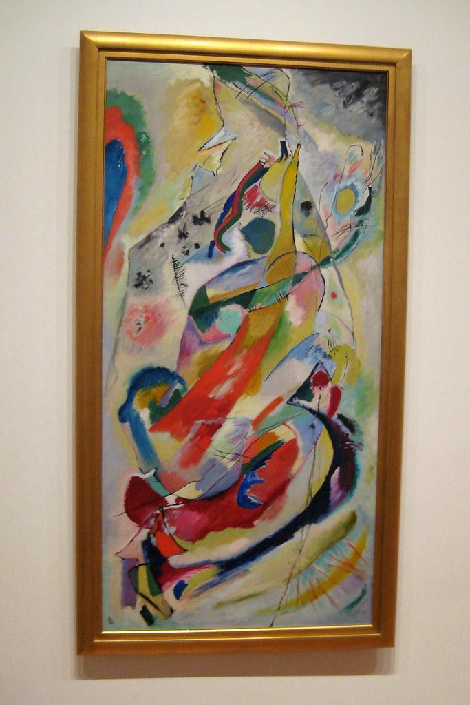 Nyc Moma Vasily Kandinskys Panel For Edwin R Campbell
