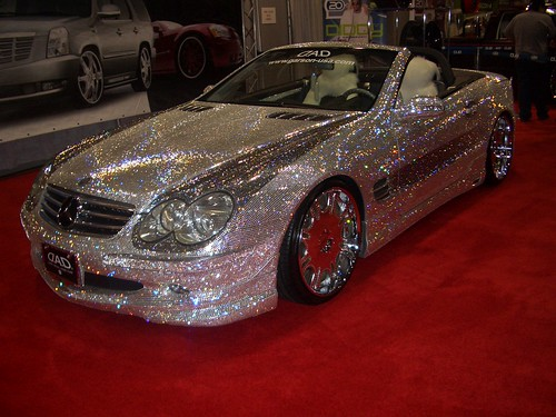 Dub Diamond Covered Mercedes Sl 600 L A Auto Show Flickr