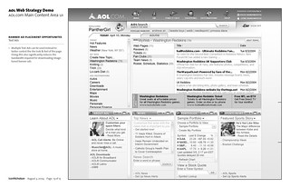 AOL.com Web Strategy Demo: Wireframe: Page 13 of 13 / 2004-08-02 / SML Interaction Design | by See-ming Lee (SML)