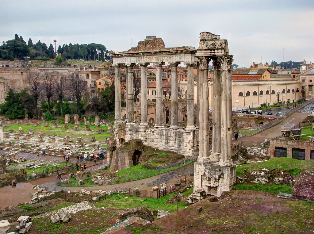 Temple Of Saturn Roman Forum Rome The Temple Of Saturn