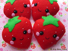 shop update: strawberry softies | by she.likes.cute