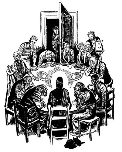 Christ at Table / Christ of the Soup Kitchen by Fritz Eich ...