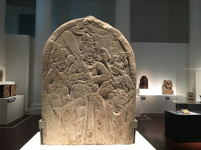 Stele. Cities & Kings - Myanmar, Asian Civilisations Museum, Empress Place, Singapore
