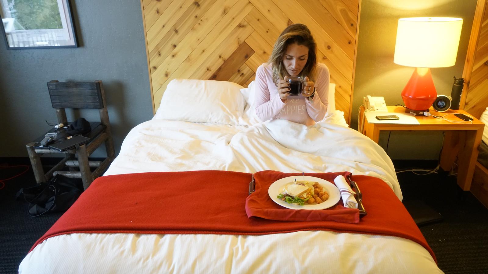 chalet dejeuner au lit