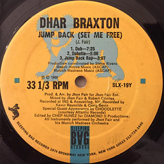 DAHR BRAXTON:JUMP BACK(SET ME FREE)(LABEL SIDE-B)