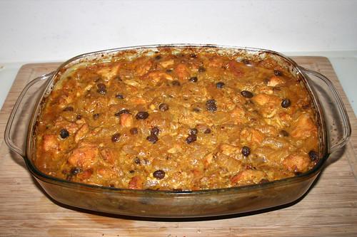 52 - Indian chicken fruit curry - Finished baking / Indisches Hähnchen-Früchtecurry - Fertig gebacken