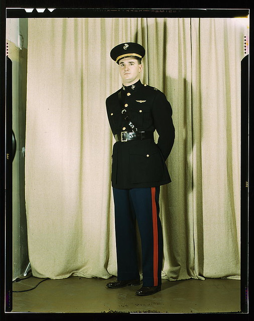 Marine Corps Captain In Dress Blue Uniform W Orld W Ar Flickr