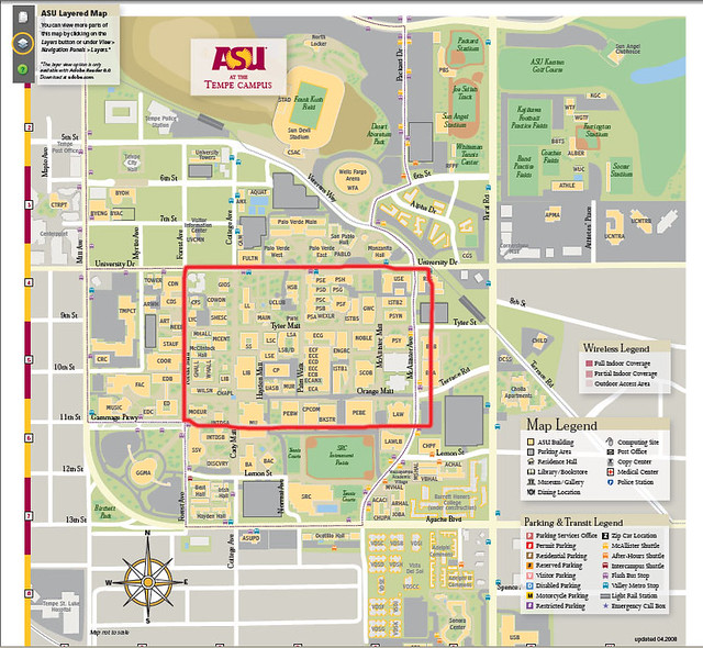asumap ASU Campus This is the Google map of the entire T Flickr