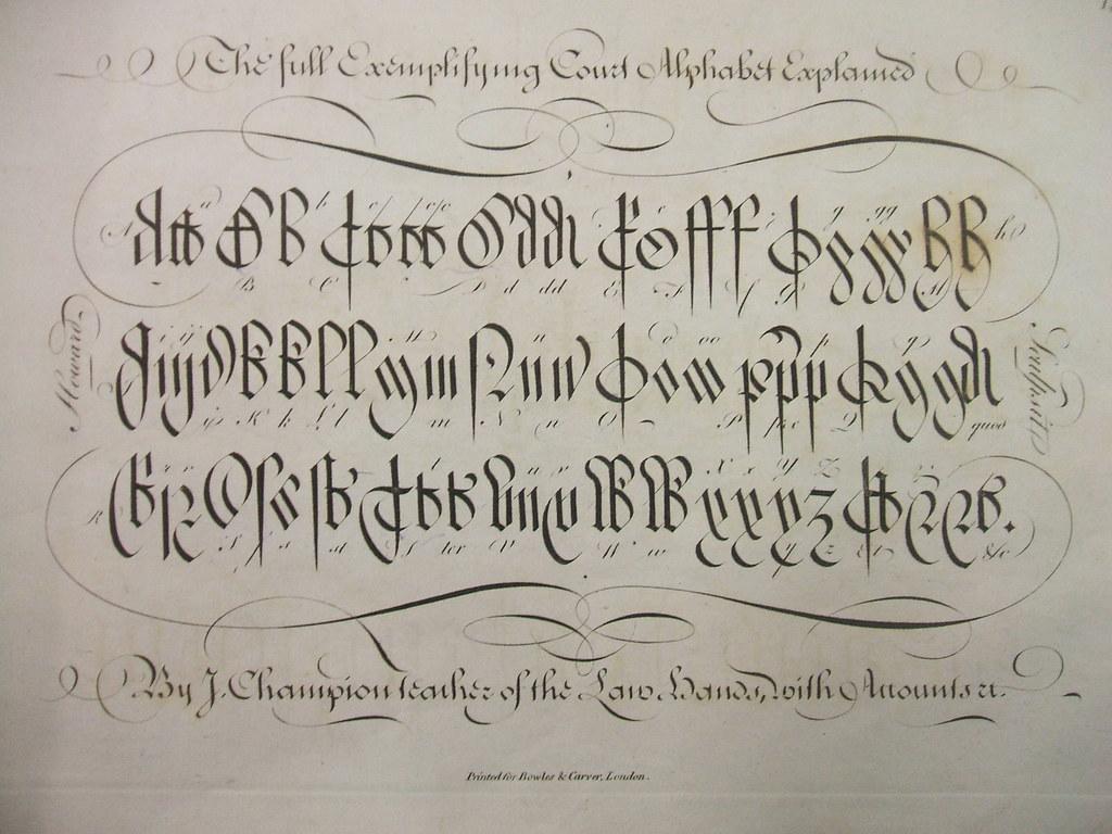 Gothic Script Court Alphabet
