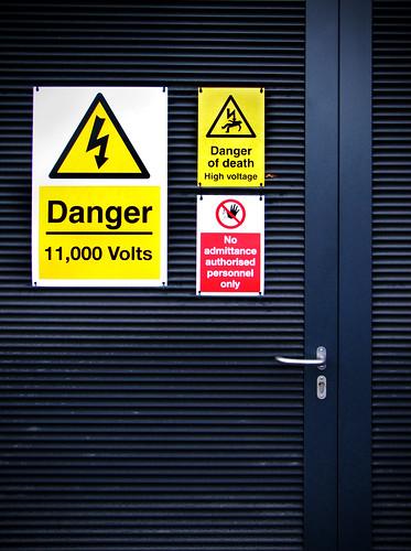 High Voltage Arcade : Danger high voltage when we touch