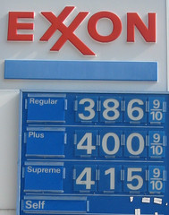 Exxon prices | by futureatlas.com