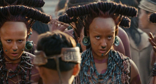 Mayan Costume In Scene From Apocalypto Freeze Frame