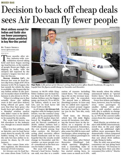 air deccan operation strategy Air deccan was the first low-cost carrier in india  the airline operated a single  cabin class, economy, allowing it to pack more.
