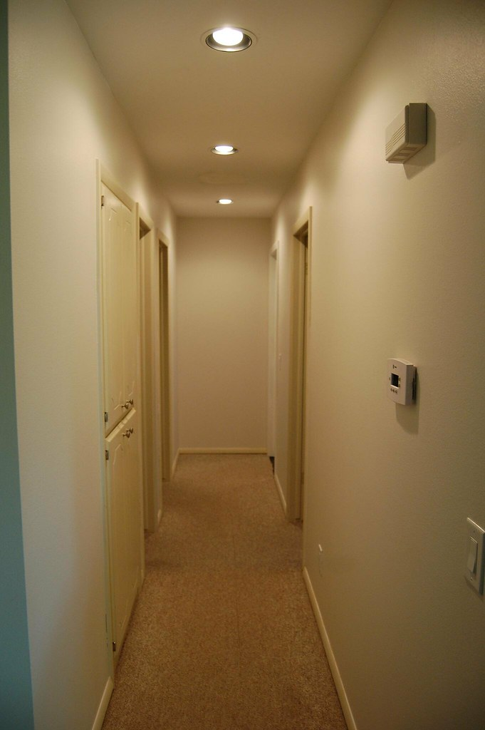 Foyer Recessed Lighting : Hallway with recessed lights kellen butler flickr