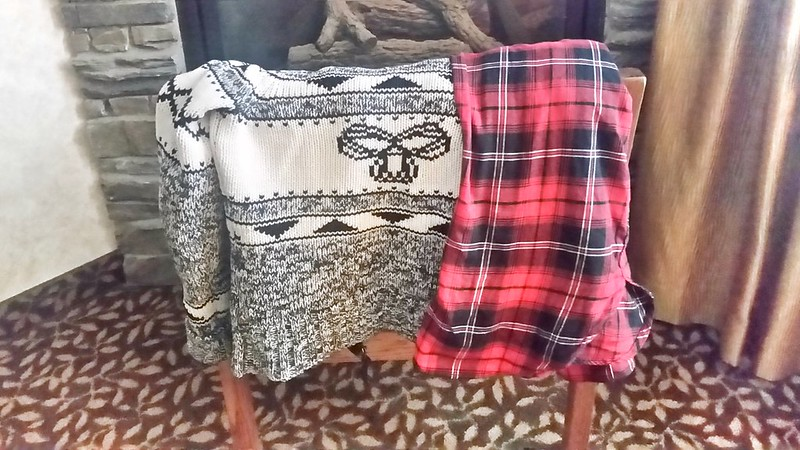TNA sweater H&M flannel