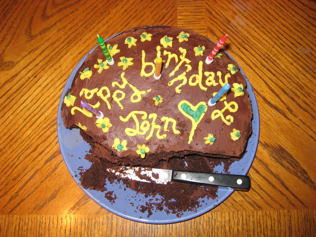 Happy Birthday John cake Cut so as not to disturb the ...