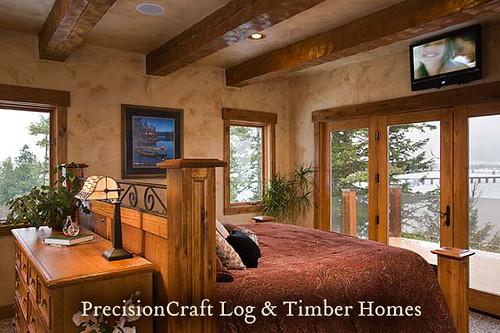 Master Bedroom In A Timber Frame Home Custom Design By Flickr