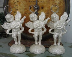 Three angel photo holders | by TwoDancingCrows