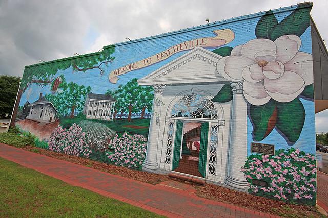 The mural in fayetteville by edwin and patsy gullett on for Mural z papiezem franciszkiem