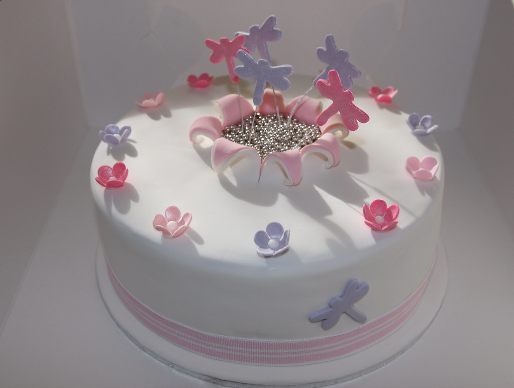 Dragonfly Birthday Cake For A Special Gril Chocolate Mud C