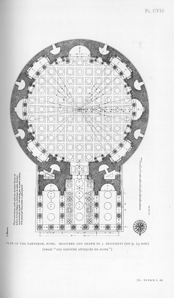 Pantheon Rome Plan Other Title Pantheon Rome Italy