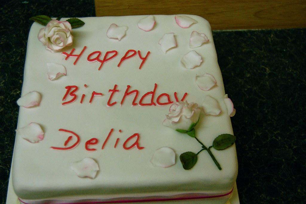 Happy Birthday Delia Cake