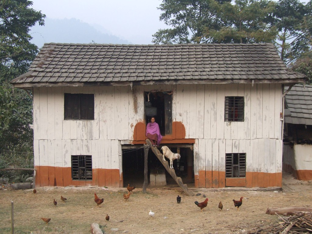 Nepali Village House On The Road In Nepal Roger G Flickr