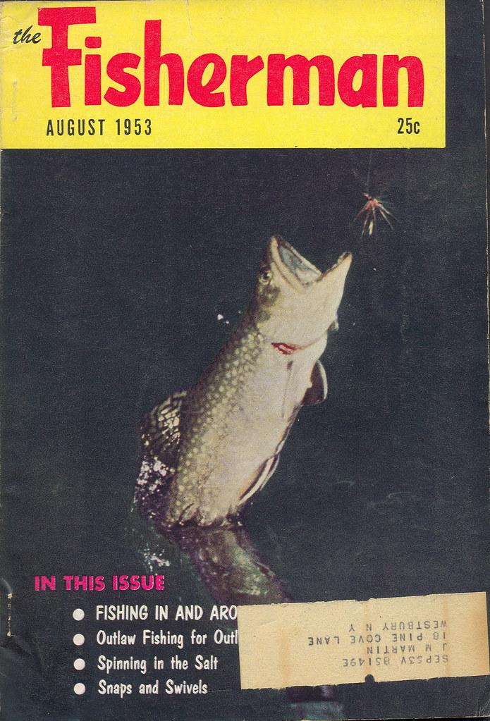 1953 the fisherman vintage fishing outdoorsman magazine for Free fishing magazines