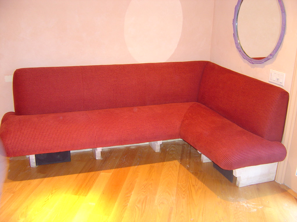 Banquette With Tight Seat And Back Red Chenille Banquette Flickr