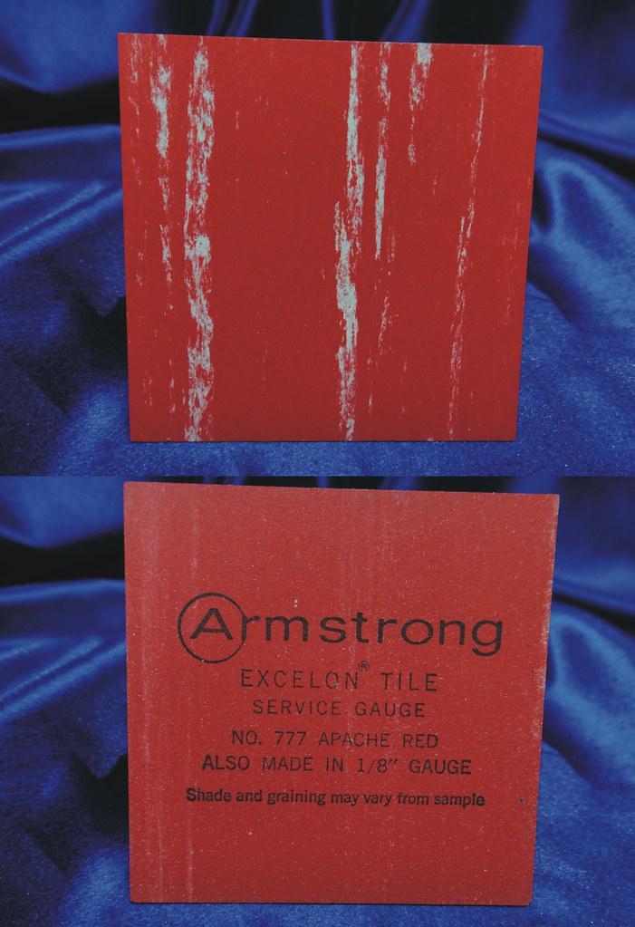 Armstrong Excelon Vinyl Asbestos Floor Tile Sample 777