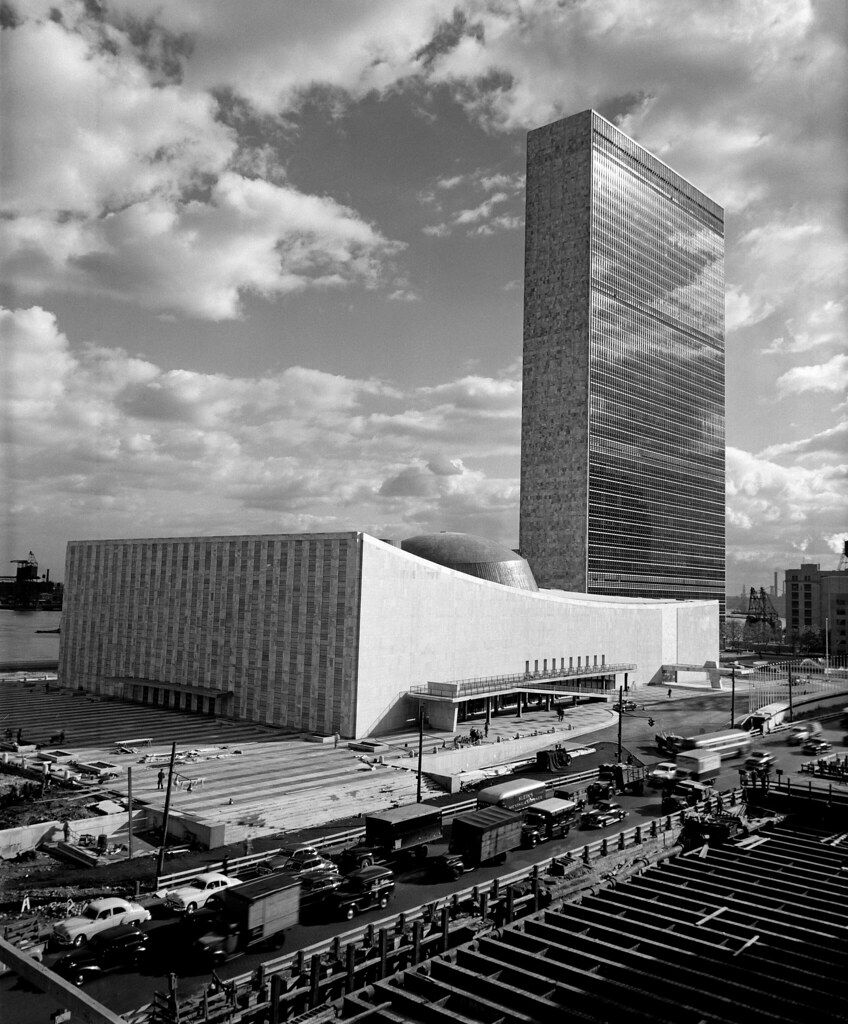 Completion Of Un Headquarters The Last Of The Three Main