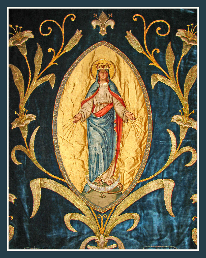 Immaculate Conception Banner Quot Then The Lord God Said To