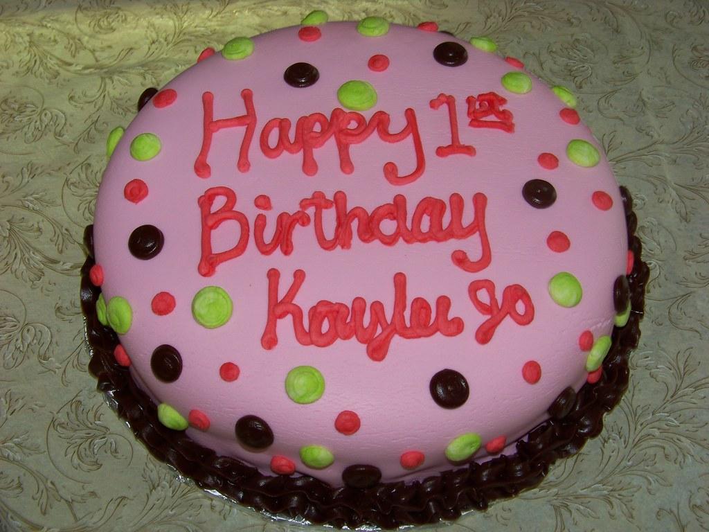 Pink Fondant Polka Dot Birthday Cake A 10 Inch Round