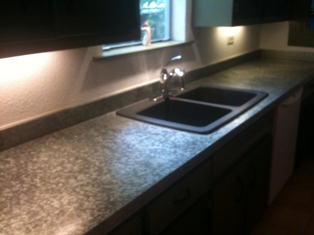 Galvanized Steel Countertop With Composite Granite Sink