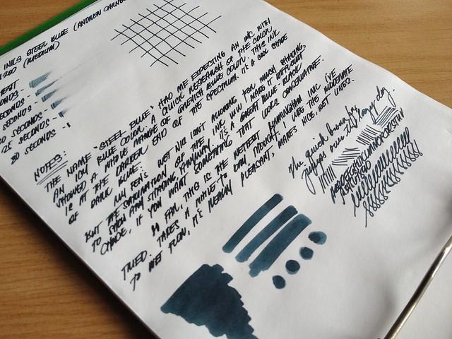 Birmingham Inks - Andrew Carnegie - Steel Blue