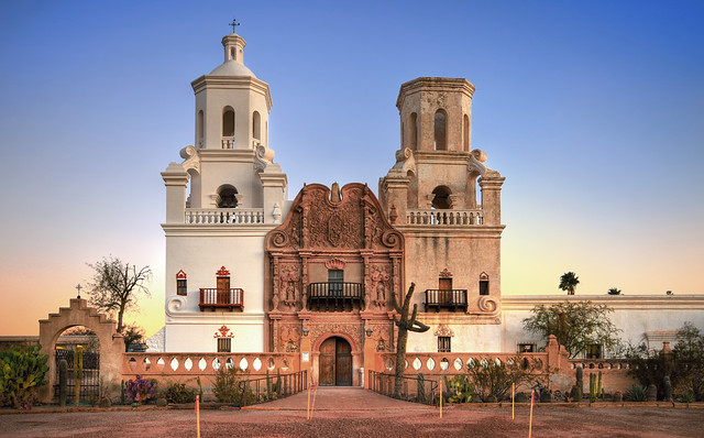 HDR San Xavier Mission, Tucson, AZ | HDR shot of the San ...