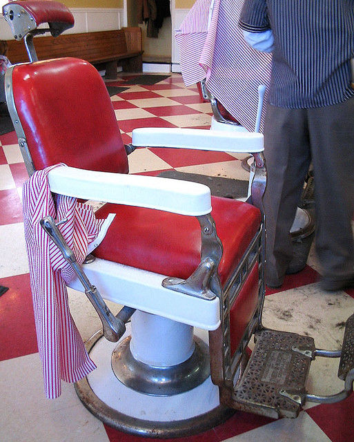 Red Barber Chair | By Catchesthelight Red Barber Chair | By Catchesthelight