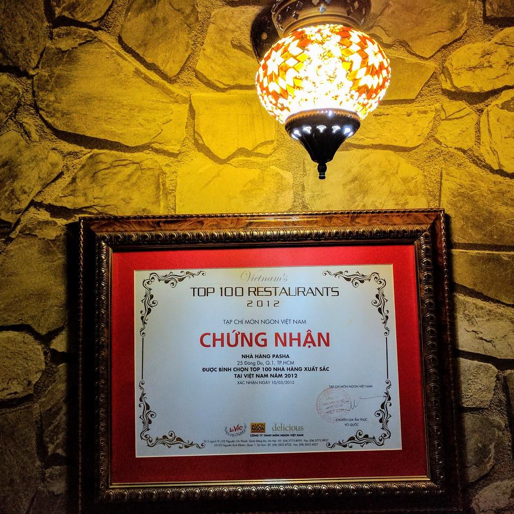 越南百大餐廳-帕夏土耳其餐廳