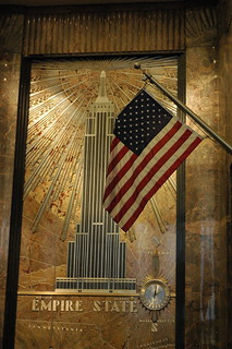 The Empire State Building Sign w/ Flag | by twatson
