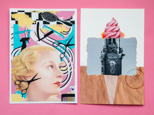 collage postcards from max brown hotels