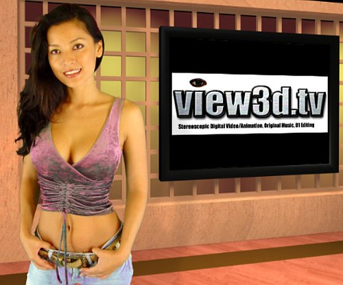 Kelly in the view3d.tv studio | by view3d.tv