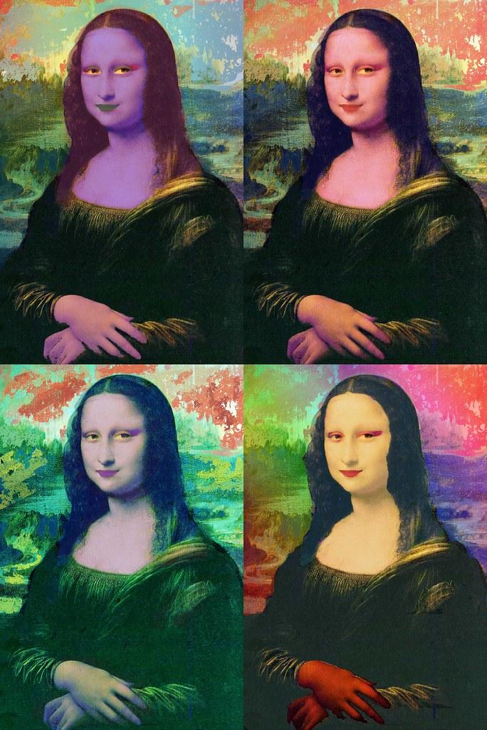 Photoshop Popart Mona Lisa Inspirado Nas Obras De Andy W Flickr