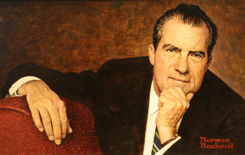 1968 portrait of Pres. Richard Nixon by Norman Rockwell | by dbking