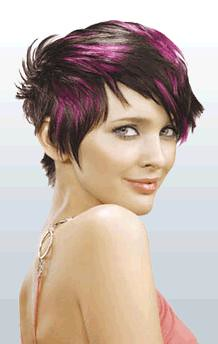 Purple Streaks Short An Adorable Brightly Highlit